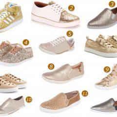 Tênis Dourado onde comprar?!? Como lacear sapato apertado???