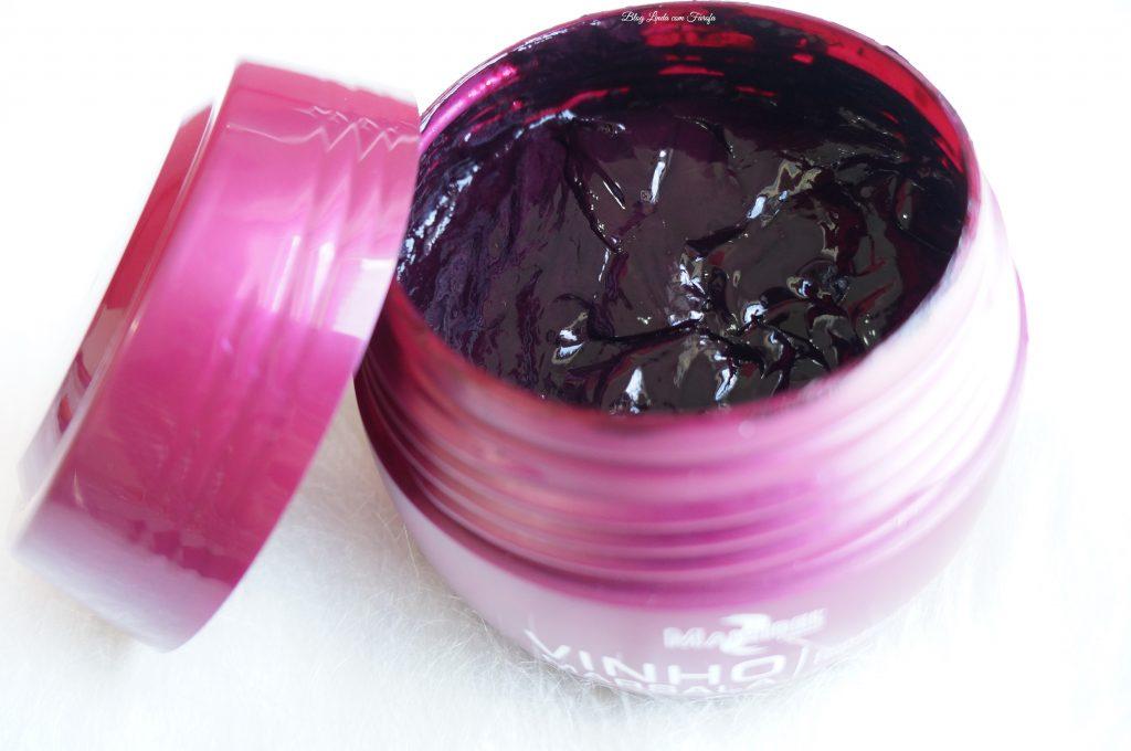Máscara vinho marsala 2