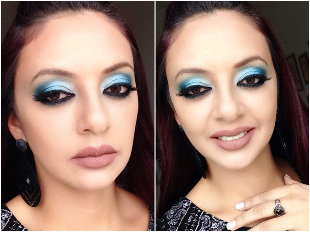 maquiagem fácil e azul